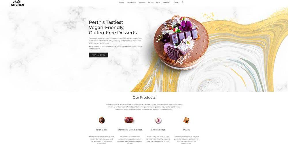 food website design ux