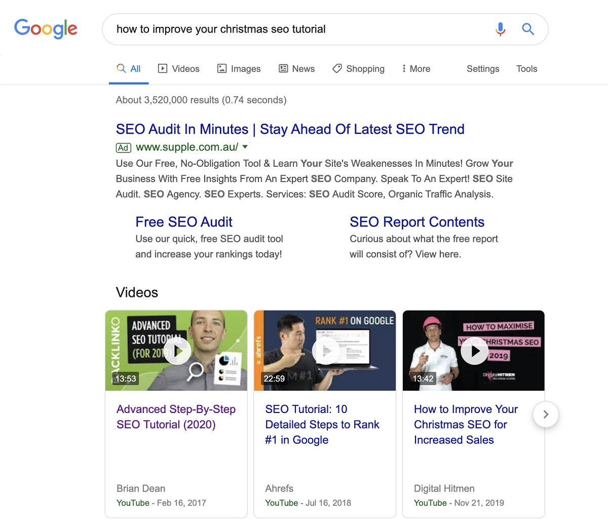 Video search is a huge SEO factor in 2020